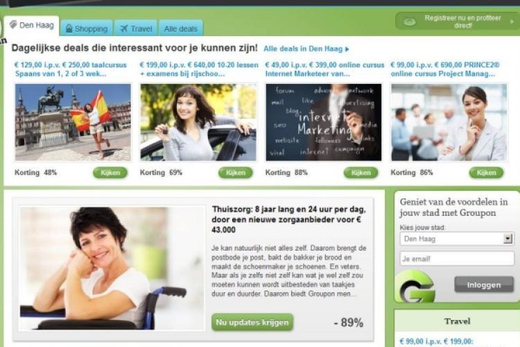 Bespaar 89% op thuiszorg dankzij Groupon