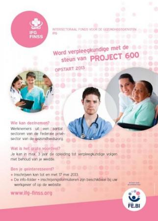 Opleidingsproject verpleegkunde ook in schooljaar 2013-2014 van start