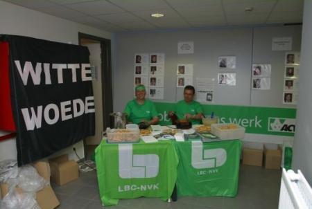 Militanten LBC-NVK Sint-Franciscusziekenhuis Heusden voeren campagne