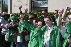 Werknemers beschutte werkplaatsen voeren actie in Tienen