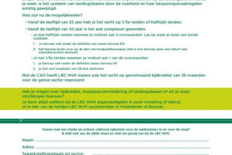 LBC-NVK sluit CAO tijdkrediet en landingsbanen in sector Centra Geestelijke Gezondheidszorg