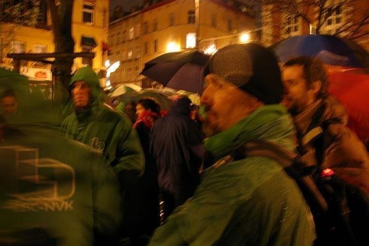 Actie voor vakbondsrechten in Brussel