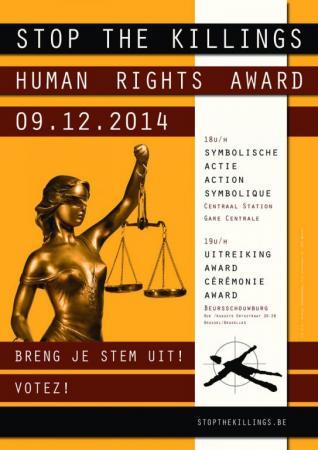Actieplatform 'Stop the Killings' reikt 'Human Rights Award' uit
