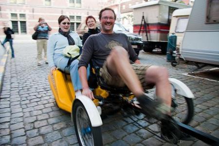 Fotoreportage fietsactie LBC-NVK non-profit in Leuven
