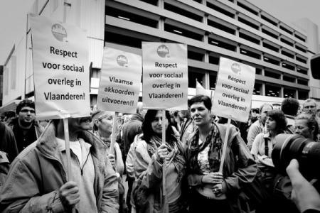 Fotoreportage actie behoud Vlaamse aanmoedigingspremies