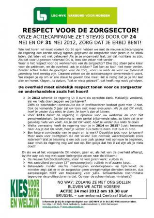 LBC-NVK organiseert acties voor sociaal akkoord federale non-profit op 24 en 31 mei