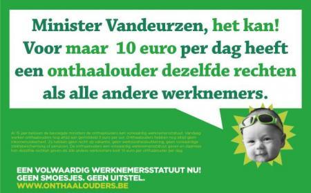 Minister Vandeurzen, een werknemersstatuut voor onthaalouders, het kan!