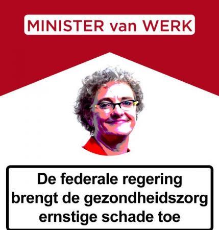 Minister De Coninck brengt de zorgsector ernstige schade toe