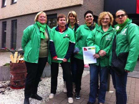 Werknemers rusthuis Prinsenpark Genk in actie tegen chantage directie