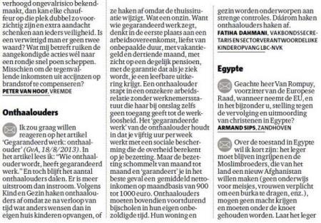 """LBC-NVK reageert op """"Gegarandeerd werk: onthaalouder"""" uit Gazet van Antwerpen"""