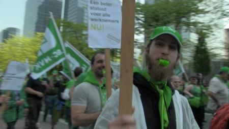 LBC-NVK op straat voor beter statuut arbeiders bedienden